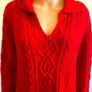 St. John's bay red long sleeve XL pullover